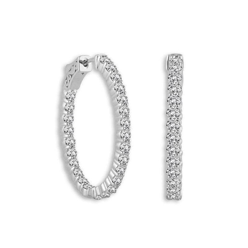 Showcase Collection Inside-Out Diamond Hoops