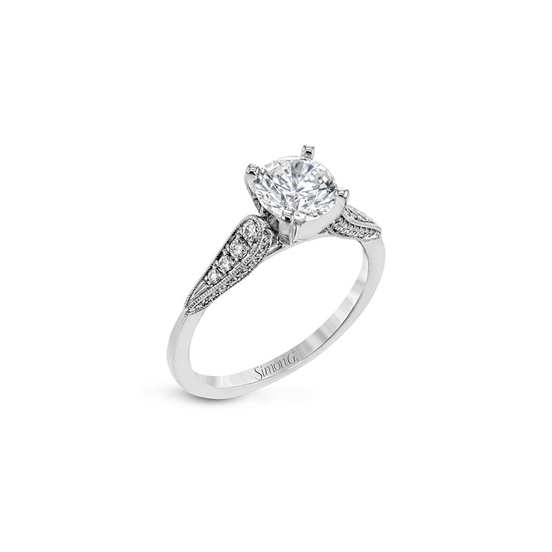 Simon G Sophisticated Solitaire Engagement Ring