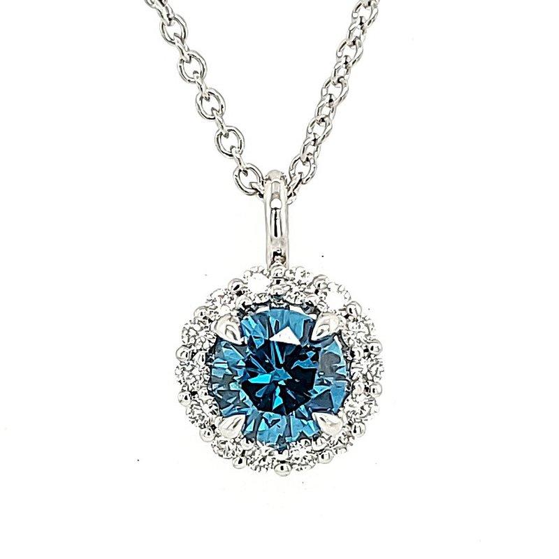 JDC Handcrafted 'Sky Blue' Diamond Pendat