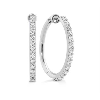 Classic Diamond Hoop- Medium