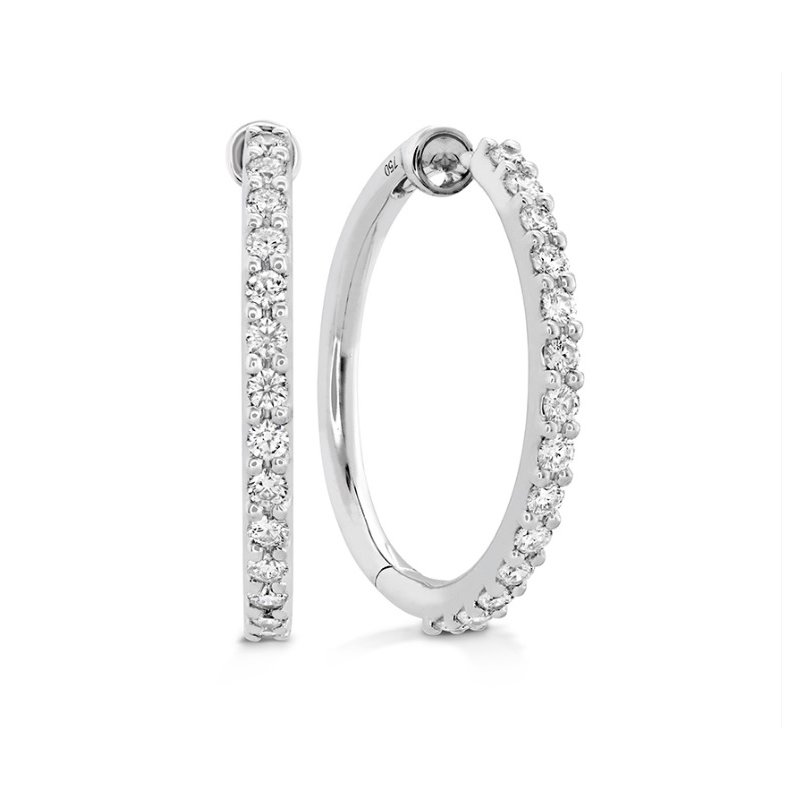 Hearts on Fire Classic Diamond Hoop- Medium