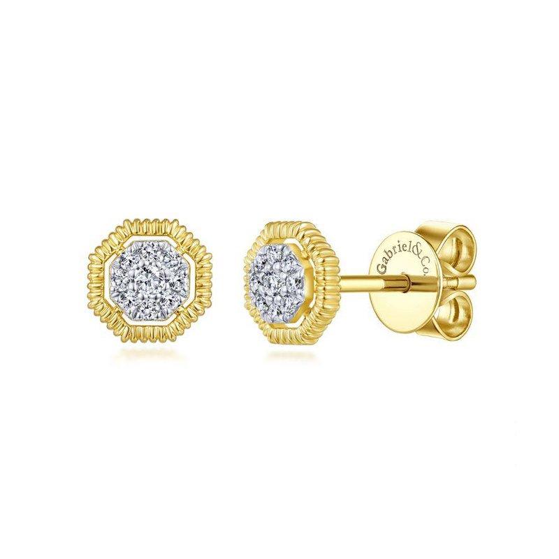 Gabriel Fashion Cluster Halo Earrings