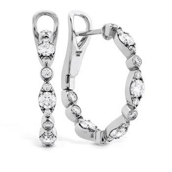 Bezel Regal Hoop Earrings