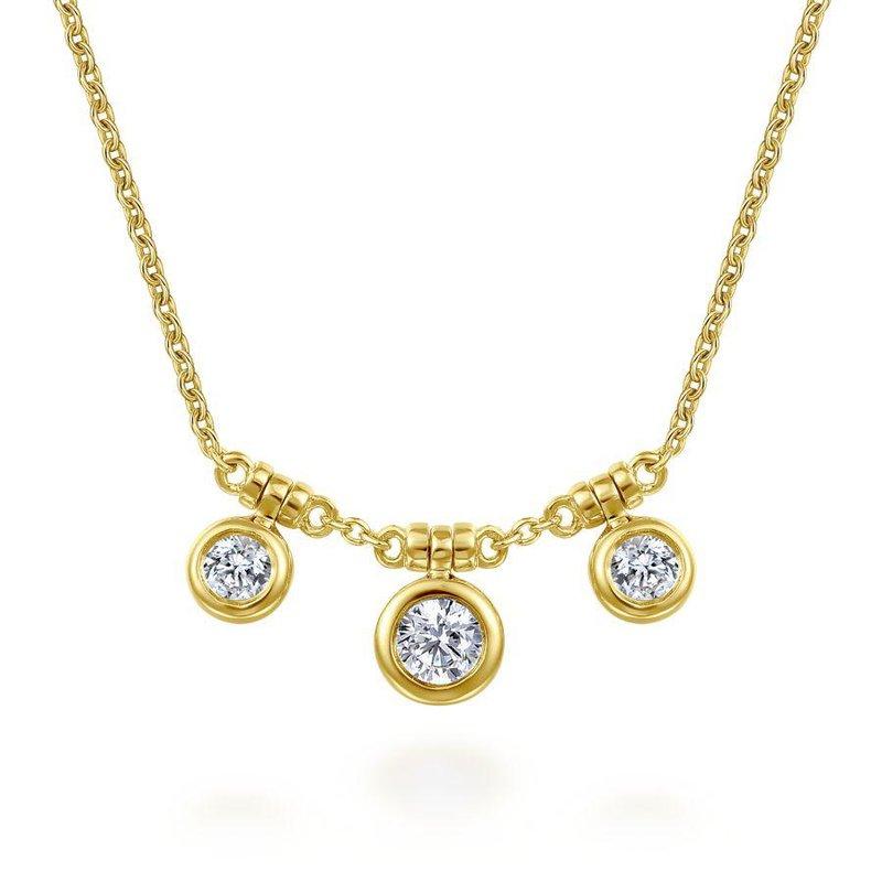 Gabriel Fashion Bezel Set Diamond Trio