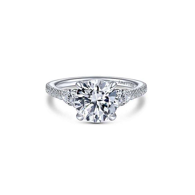 Gabriel Bridal Platinum Diamond Engagement Ring