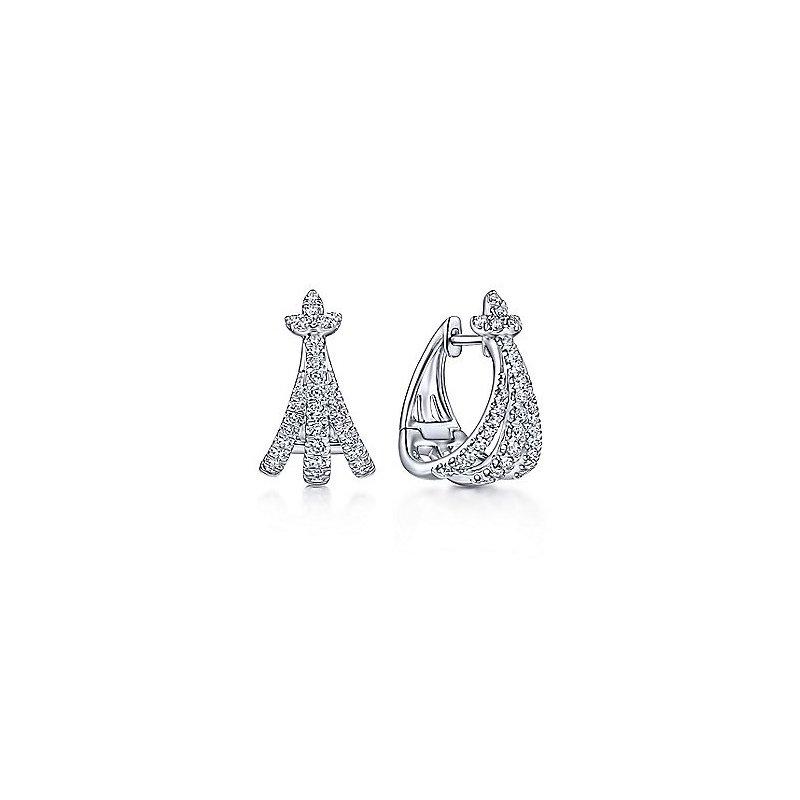 Gabriel Fashion Huggie Earrings