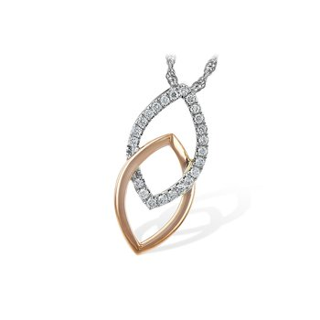 Modern Diamond Pendant