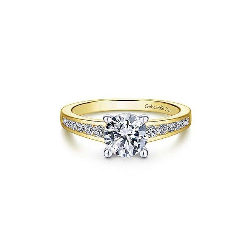 Gabriel Bridal Channel Set Engagement Ring