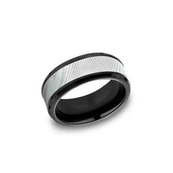 Titanium & Damascus Ring