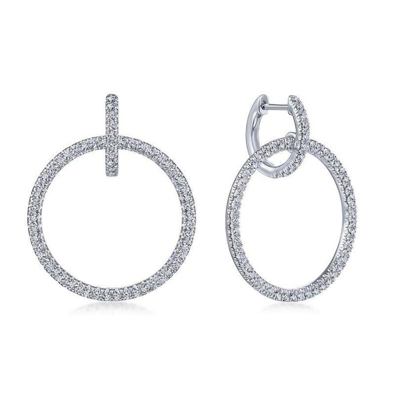 Gabriel Fashion Linked Hoop Earrings