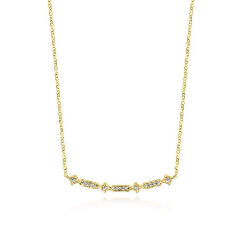 Gabriel Fashion Curved Bar Necklace