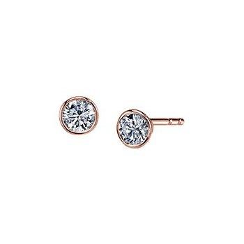 Bezel Set Earrings