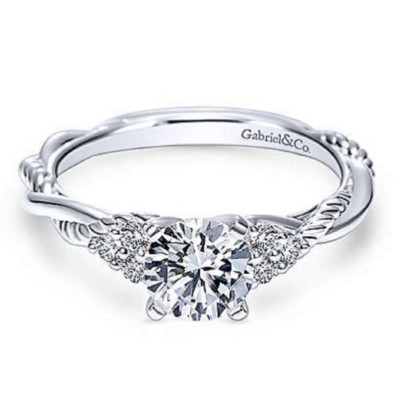 Gabriel Bridal Twisted Engagement Ring