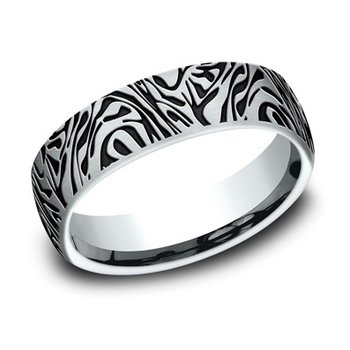 Black Rhodium Plated Mokume Band