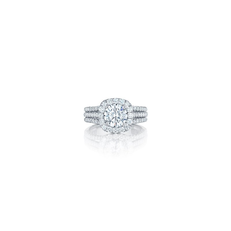 Tacori Petite Crescent Halo Ring