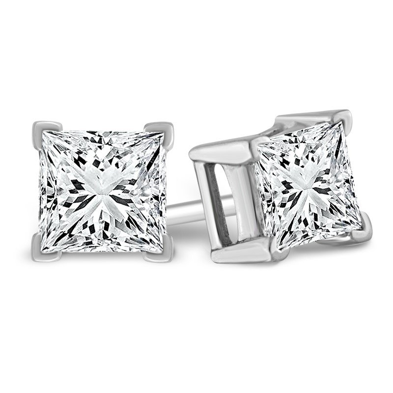 Showcase Collection Princess Cut Studs: 1.00ctw