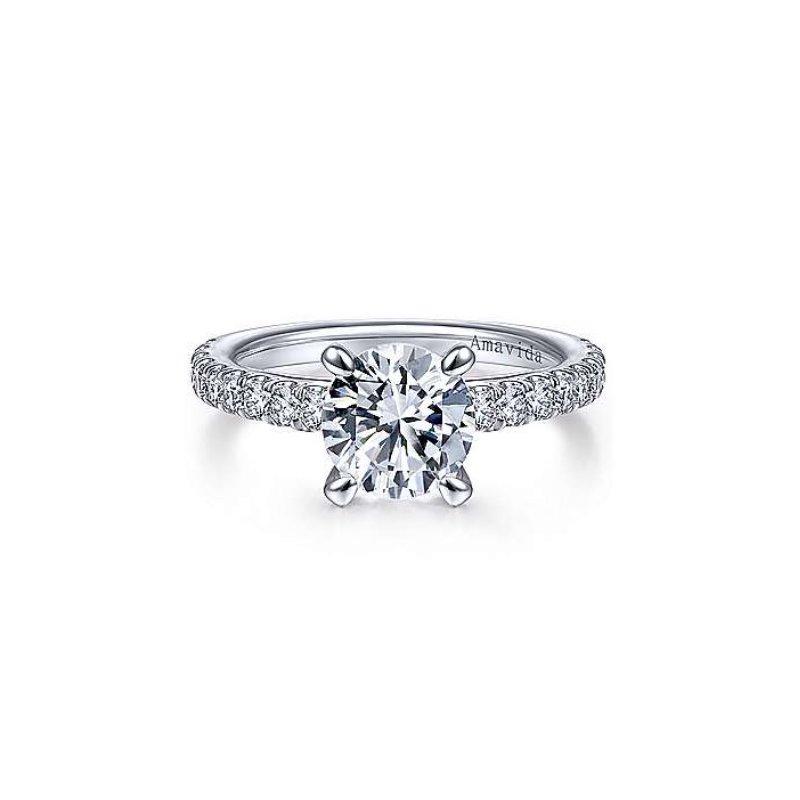 Gabriel Bridal Platinum Engagement Ring