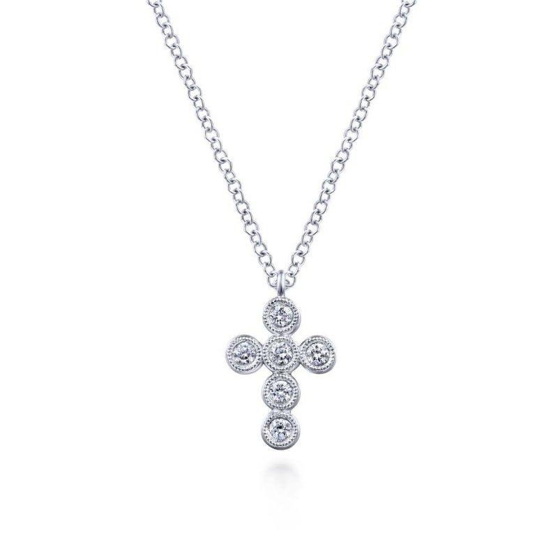 Gabriel Fashion Bezel Set Diamond Cross