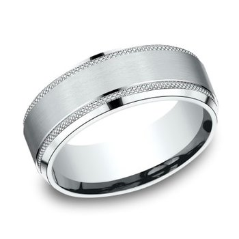Satin & Textured Band