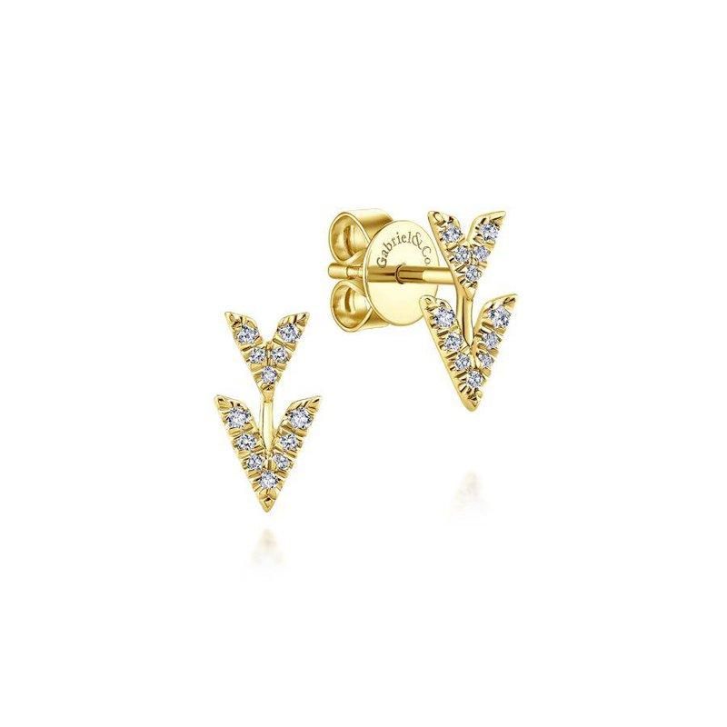 Gabriel Fashion Chevron Stud Earrings