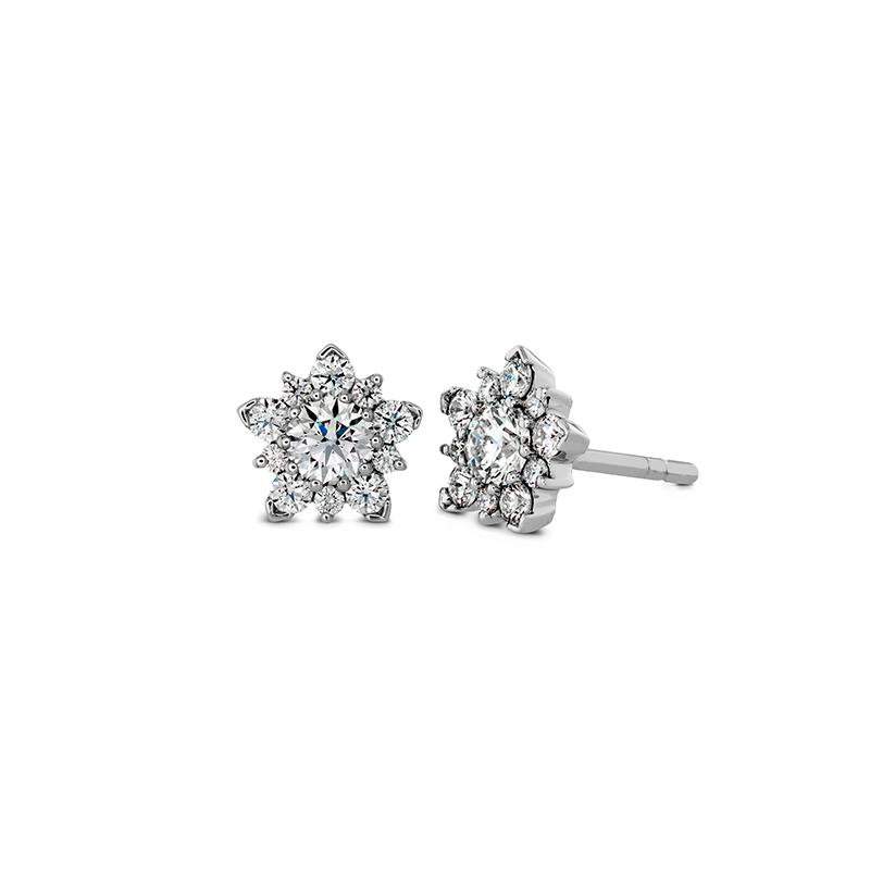 Hearts on Fire Aerial Cluster Stud Earrings