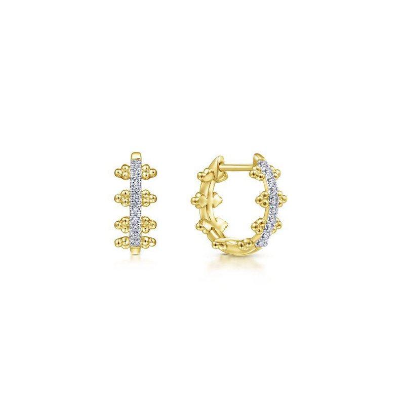 Gabriel Fashion Diamond Huggie Earrings