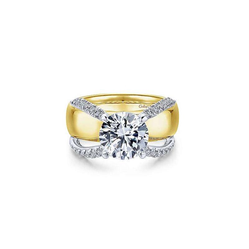 Gabriel Bridal Wide Band Engagement Ring