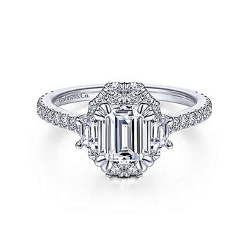 Art Deco Halo Ring