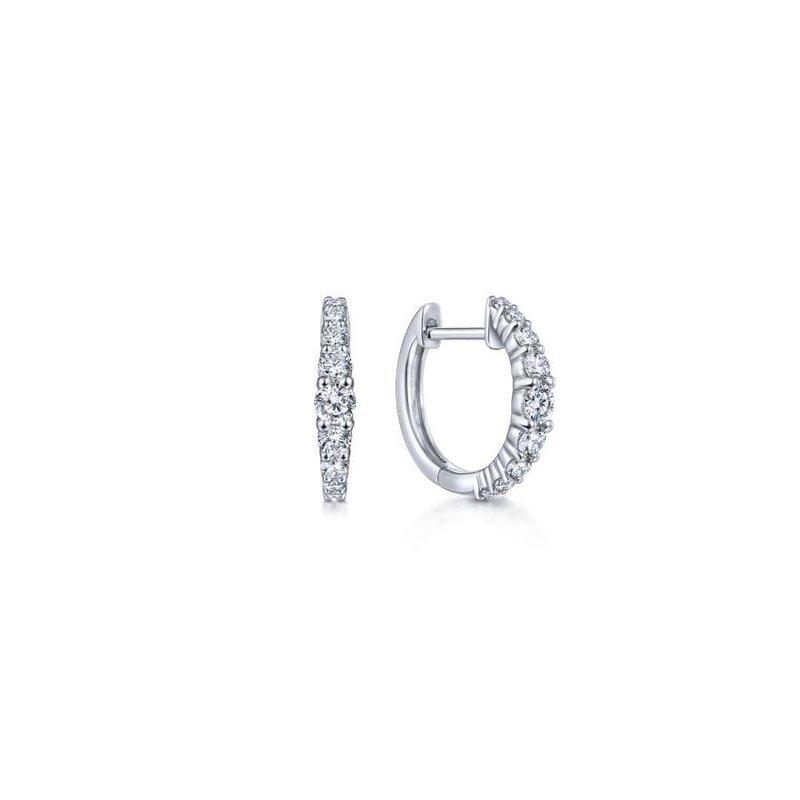 Gabriel Fashion Classic Diamond Huggie Earrings