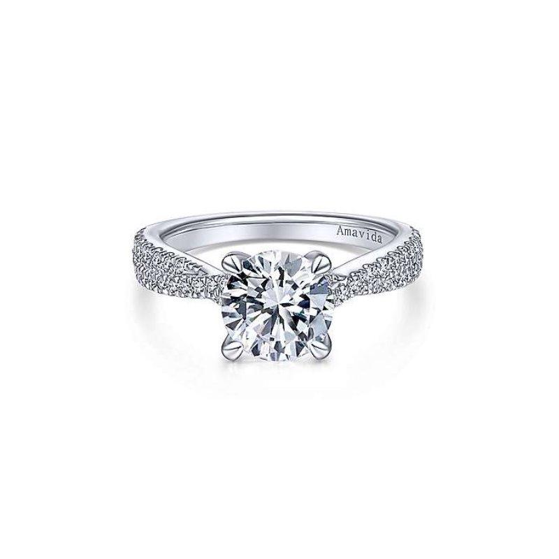 Gabriel Bridal Platinum Twisted Engagement Ring