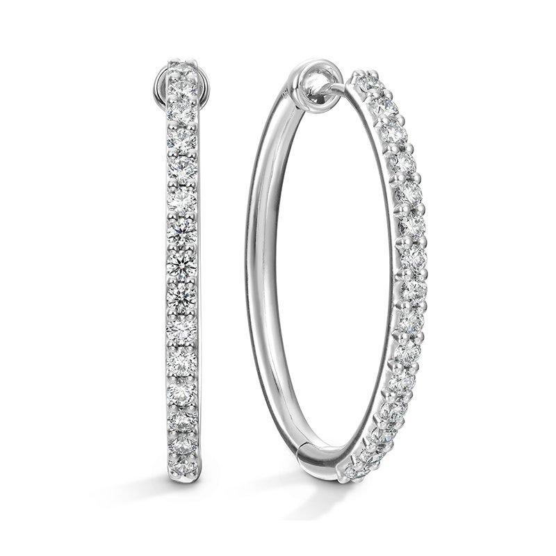 Hearts on Fire Oval Classic Diamond Hoop - Large