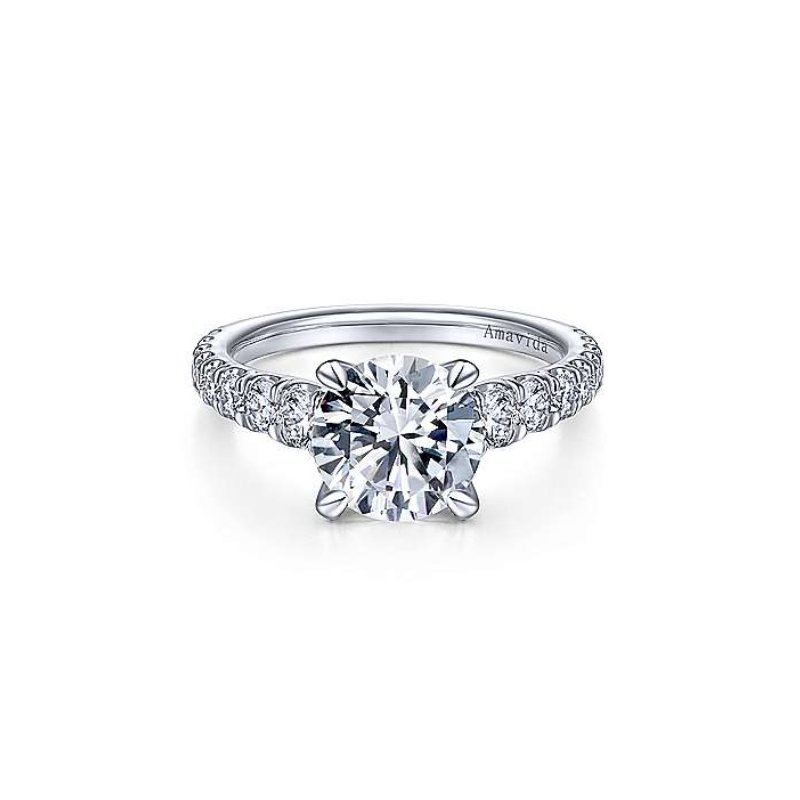 Gabriel Bridal Platinum Diamond Engagement Ring