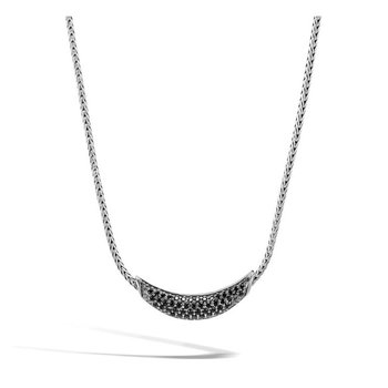 Classic Chain Necklace with Black Sapphire