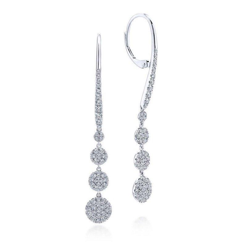 Gabriel Fashion Diamond Drop Earrings