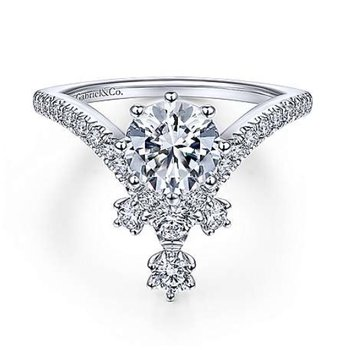 V-Shaped Engagement Ring
