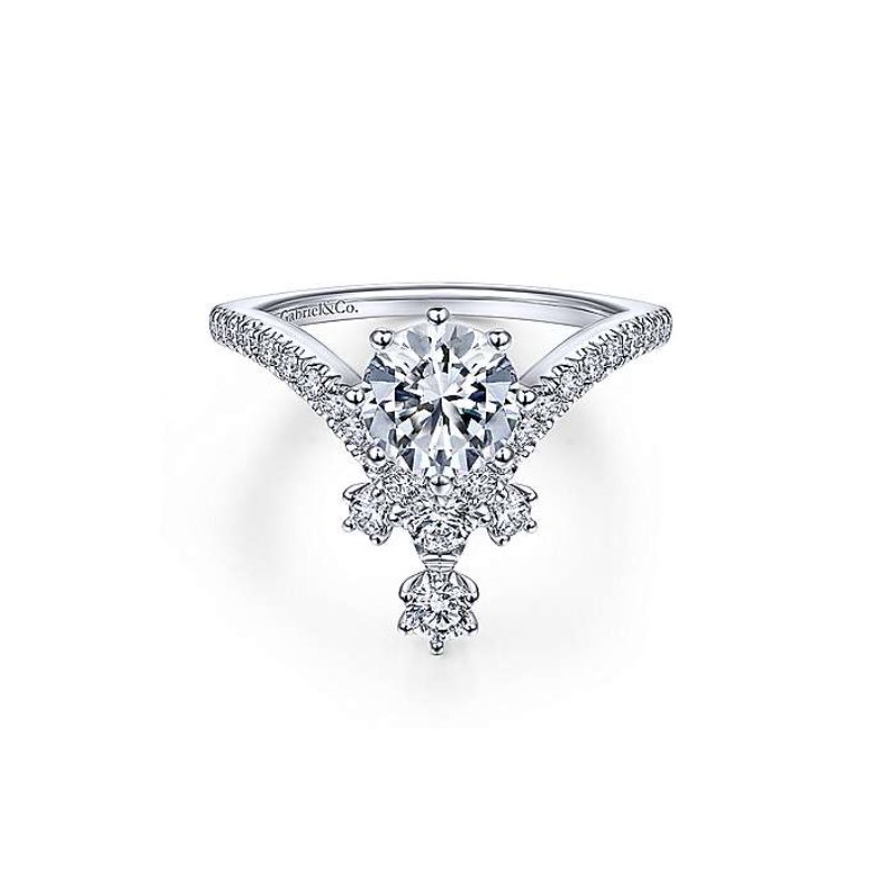 Gabriel Bridal V-Shaped Engagement Ring
