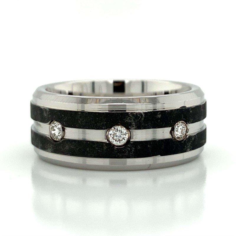 Benchmark Rings Cobalt Chrome & Tungsten Diamond Band