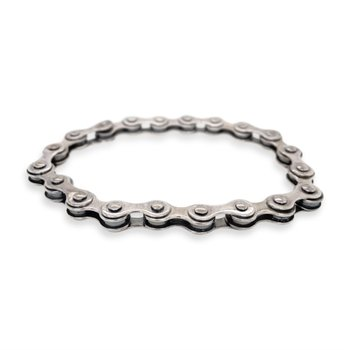 Silver Bike Chain Bracelet