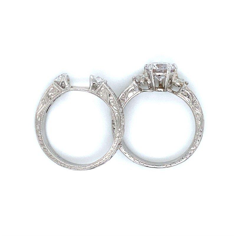 Robert Palma Designs Platinum Wedding Set