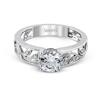 18k White Gold Floral Ring