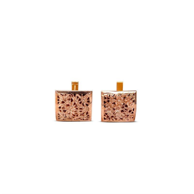 Robert Palma Designs 14k Rose Gold Cuff Links