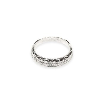 18k White Gold Verragio Miligrain Band