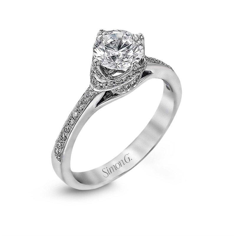 Simon G 18k White Gold Diamond Semi Mount