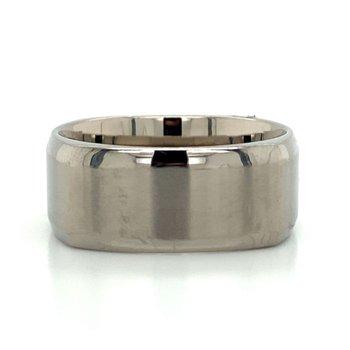 Titanium & Tungsten Squared Band