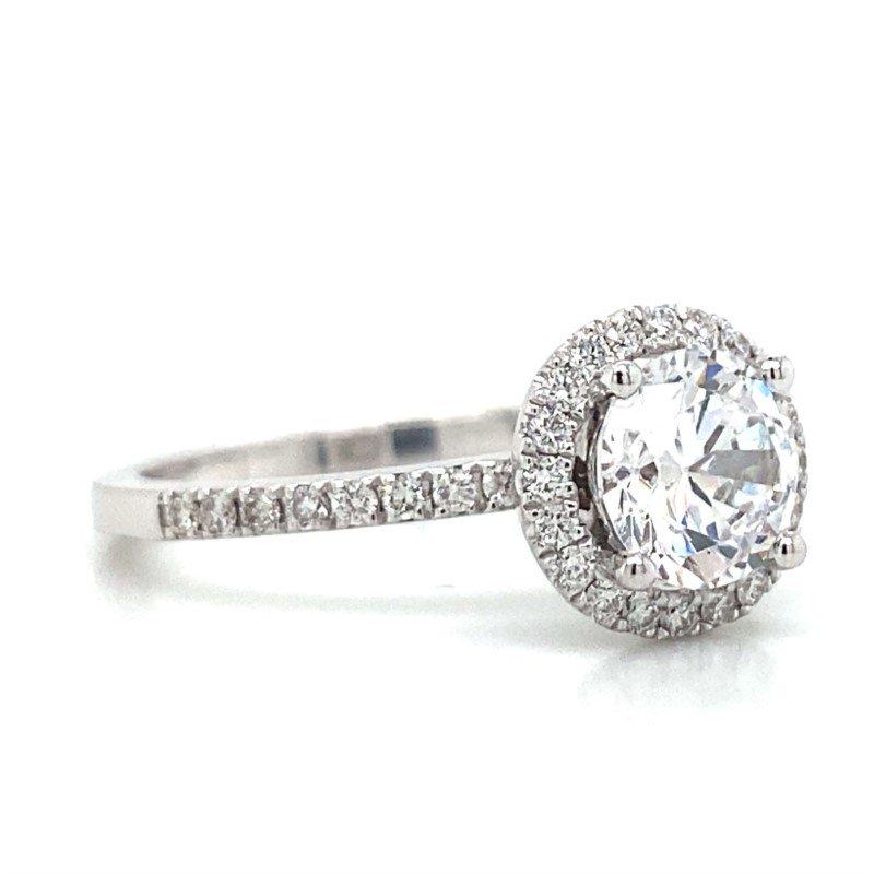 Robert Palma Designs 18k White Gold Halo Ring