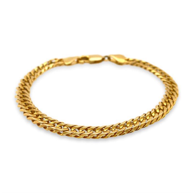 Robert Palma Designs 14K Yellow Gold Cuban Chain Bracelet
