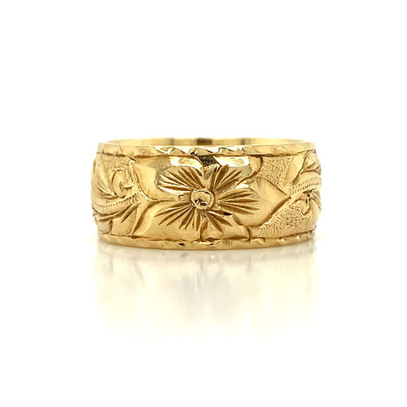 Robert Palma Designs 14K Plumeria Ring