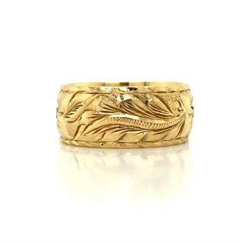 14K Plumeria Ring