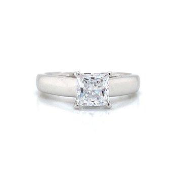 14k White Gold Solitaire Ritani Ring
