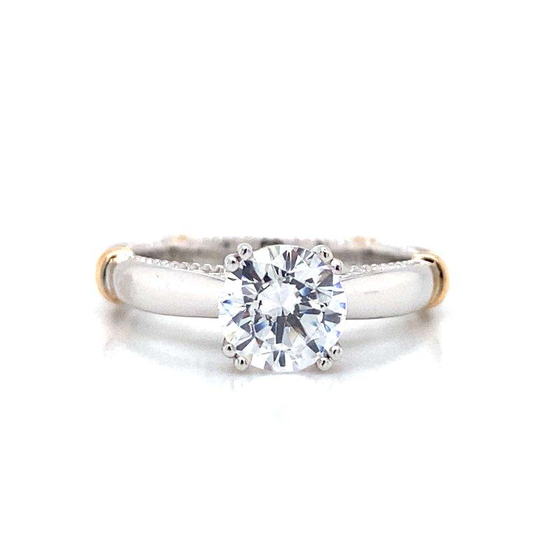 Verragio 18k White & Rose Gold Verragio Ring